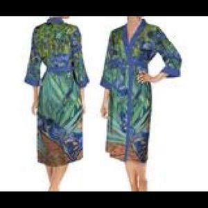 Other - Van Gogh Irises inspired Robe Picture Perfect M